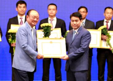 한국계 기업 그랜드프라자하노이호텔, 하노이시장상 수상